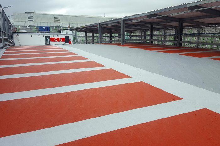 Upper deck at Brighton University Multi-Storey car park